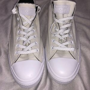 White on white mens Converse sneakers